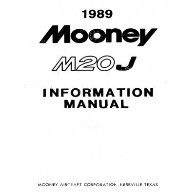 Mooney M20J 1989 Information Manual $13.95