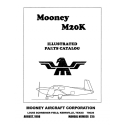 Mooney M20K Parts Catalog $19.95
