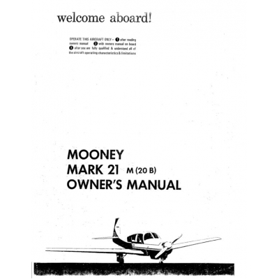 Mooney Mark 21 M20B Owners Manual $13.95