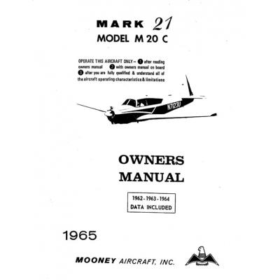 Mooney Mark 21 M20C Owners Manual $13.95