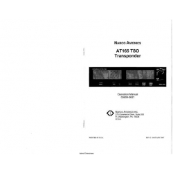 Narco Avionics AT165 TSO Transponder Operation Manual