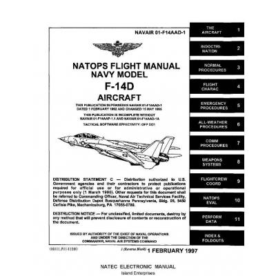Grumman F-14D Tomcat Aircraft Natops Flight Manual/POH