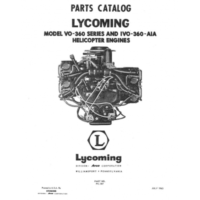 Lycoming Parts Catalog PC-107 VO-IVO-360 Series Helicopter