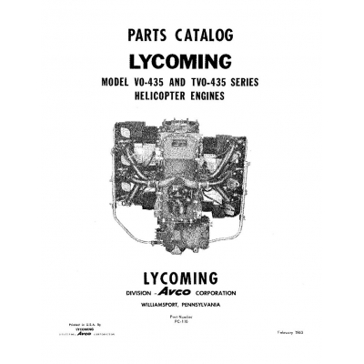 Lycoming Parts Catalog PC-110 VO-TVO-435 $13.95