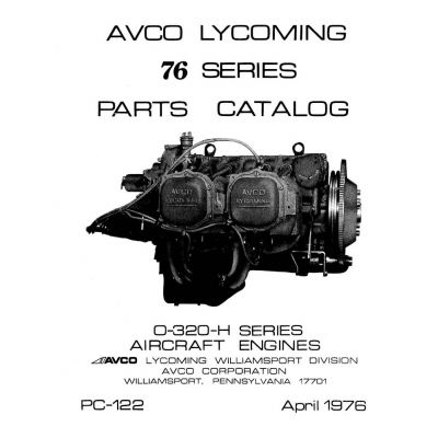 Lycoming Parts Catalog PC-122 O-320-H 76 Series $13.95