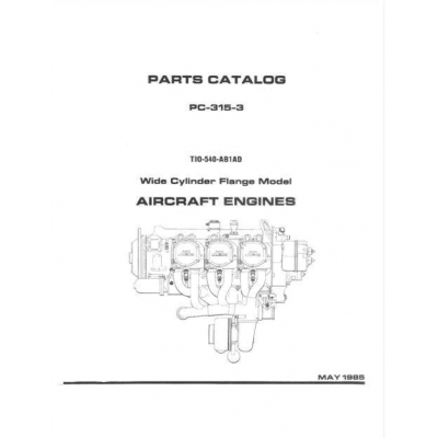 Lycoming Parts Catalog PC-315-3 TIO-540-AB1AD $13.95