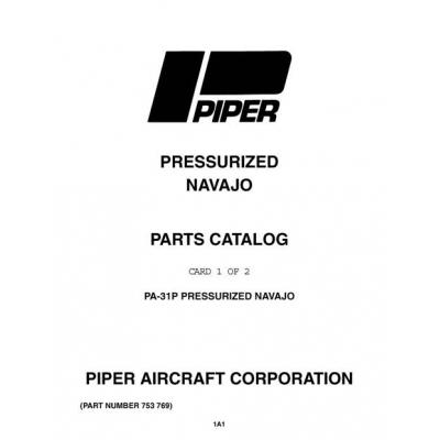 Piper Pressurized Navajo Parts Catalog PA-31P $13.95 Part