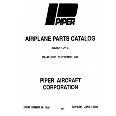 Piper Cheyenne 400 Parts Catalog PA-42-1000 $13.95 Part