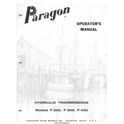 Paragon P200, P300, P400 Hydraulic Transmissions Operator
