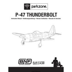 Republic Parkzone P-47 Thunderbolt Instruction Manual $2.95