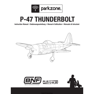 Republic Parkzone P-47 Thunderbolt Instruction Manual $2.95