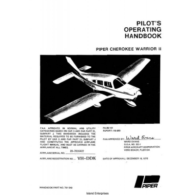 Piper Cherokee Warrior II PA-28-161 Pilot's Operating