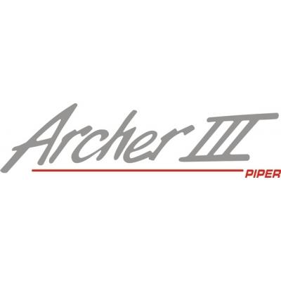 Piper Archer III Decal-Sticker 2 3/4