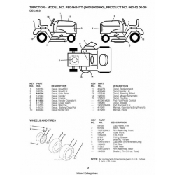 Poulan PB24H54YT (96042003900) Tractor Repair Parts Manual
