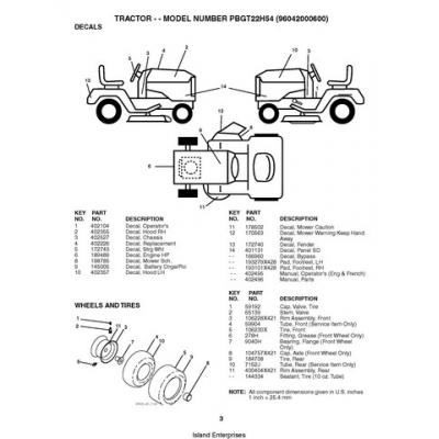 Poulan PBGT22H54 (96042000600) Tractor Repair Parts Manual
