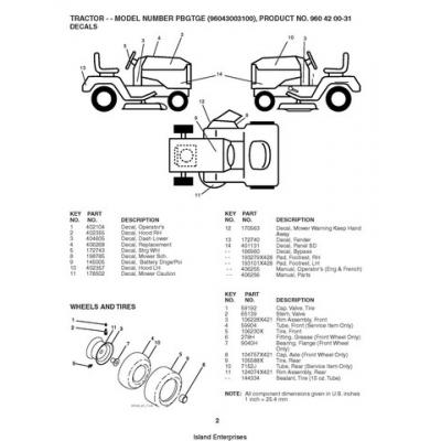 Poulan PBGTGE (96043003100) Tractor Repair Parts Manual $4.95