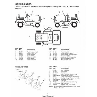 Poulan PO15538LT (96012006803) Tractor & Ride Mower Repair