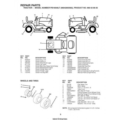 Poulan PRO PB19546LT (96042003502) Tractor/Ride Mowers