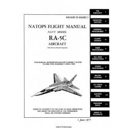 North American RA-5C Navy Model Aircraft Natops Flight