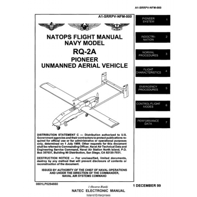 RQ-2A Pioneer Unmanned Aerial Vehicle Natops Flight Manual