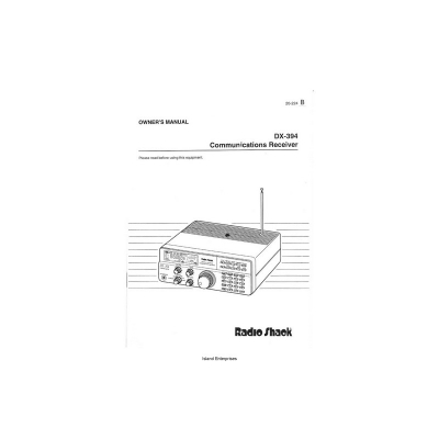Radio Shack DX-394 Communication Receiver Owner's Manual