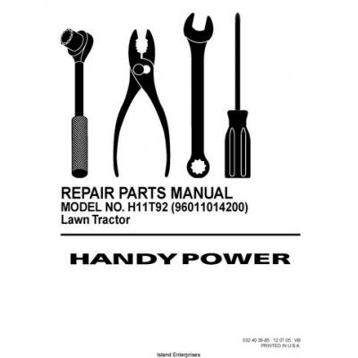 Rasentraktor Handy Power H11T92 (96011014200) Lawn Tractor