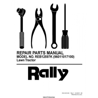 Rasentraktor Rally REB12597K (96011017100) Lawn Tractor