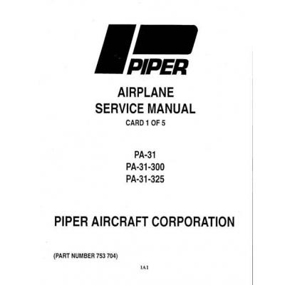 Piper Navajo Service Manual PA-31-300/325 $13.95 Part