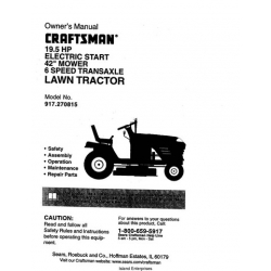 Sears Craftsman 19.5 HP Electric Start 42