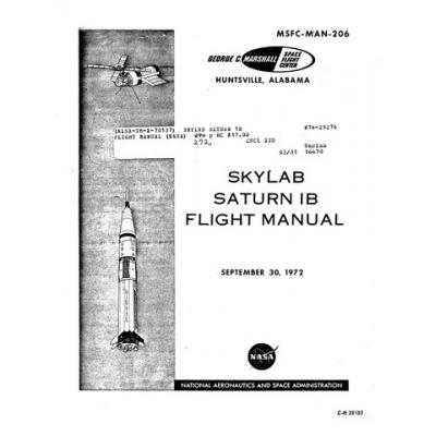NASA Skylab Saturn 1B Flight Manual/POH 1972 $9.95