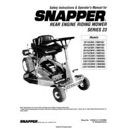 Snapper Rear Engine Riding Mower Series 23 Safety
