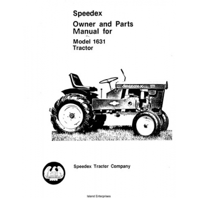 Speedex 1631 Tractor Owner and Parts Manual $4.95