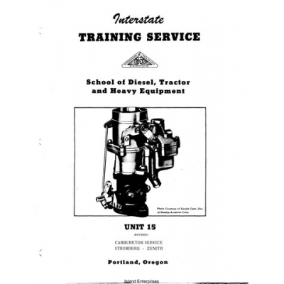 Zenith Unit 15 Carburetor Training Service $4.95