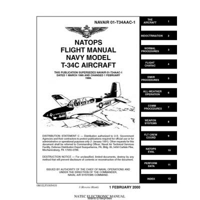 Beechcraft T-34C Turbo-Mentor Navy Model Aircraft Navair