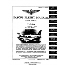 Beech T-44A Pegasus Navy Model Aircraft Natops Flight