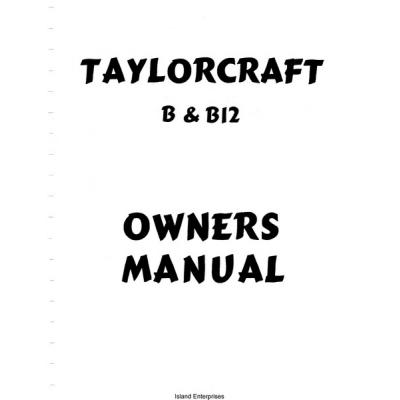 Taylorcraft B and B12 Owners and Instruction Manual $4.95