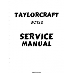Taylorcraft BC12D Service Manual $12.95