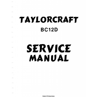 Taylorcraft BC12D Service Manual $12.95