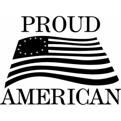 USA Proud American! Sticker/Decal!