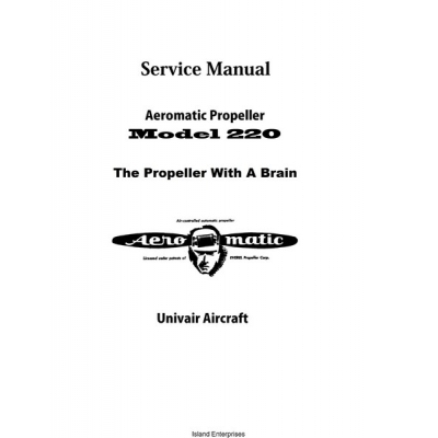 Univair Aeromatic Propeller 220 Service Manual $4.95