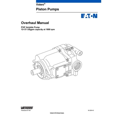 Vickers M2854S PVE Variable Pump 12-21 USgpm Capacity at