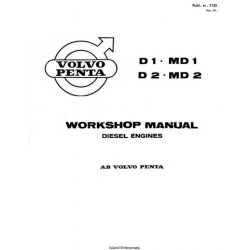 Volvo Penta D1, MD1, D2, MD2 Diesel Engines Service Workshop Manual $5.95