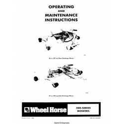 Wheel Horse 200-Series Mowers Operating and Maintenance