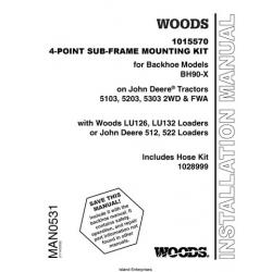 Woods 1015570 4-Point Sub-Frame Mounting Kit for Backhoe