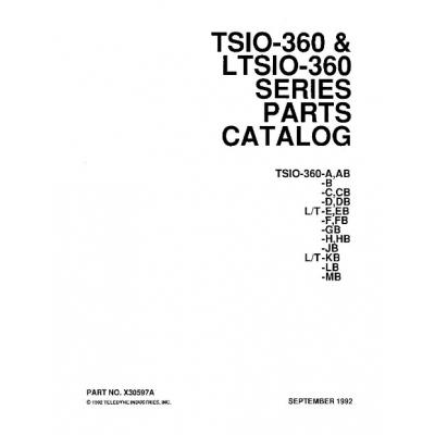 Continental Parts Catalog X30597A TSIO-LTSIO-360 Series $13.95