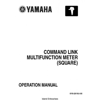Yamaha 6Y8-2819U-00 Command Link Multifunction Meter