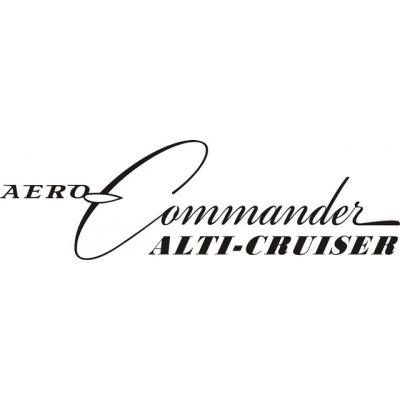 Aero-Commander Alti-Cruiser Aircraft Decal/Sticker 15''w x