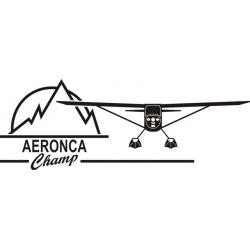 Aeronca Champ Aircraft Decal/Sticker 4.5''h x 12''w!