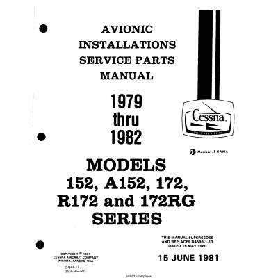 Cessna Model 152, A152, 172, R172, 172RG Series (1979 thru