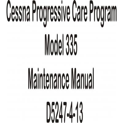 Cessna Progressive Care Program Model 335 Maintenance